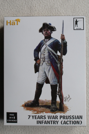 Hat 1/32 HAT9402 Prussian Infantry in Action Poses (7 Years War)